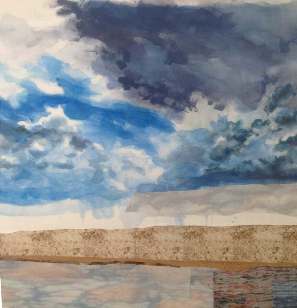 """""""Fair Weather (July19) - painted sky"""