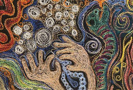 stitched artwork by Susan Polansky
