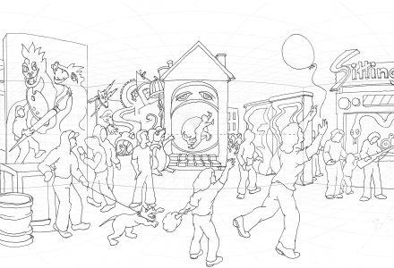 Polansky, Fun Fear drawing