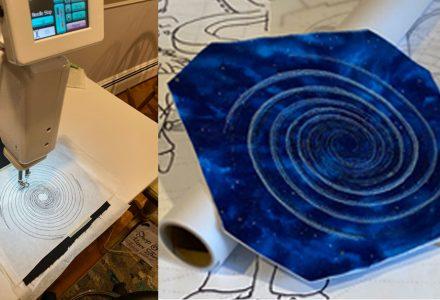 Handi-Quilter Sweet 16, swirl stitched design