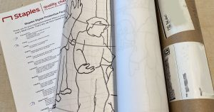 enlarged drawing and shipping tube