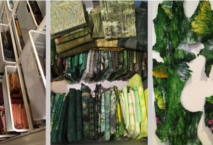 fabric collection of an art quilter