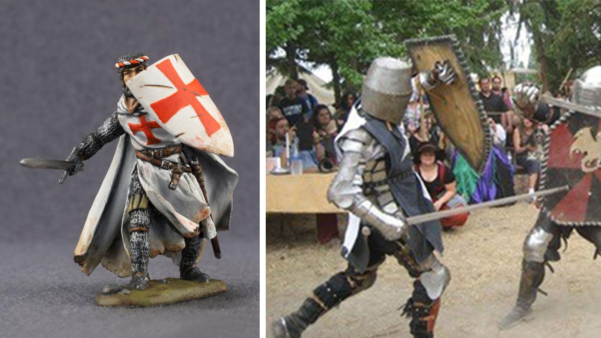 photos of fighting knights in armor