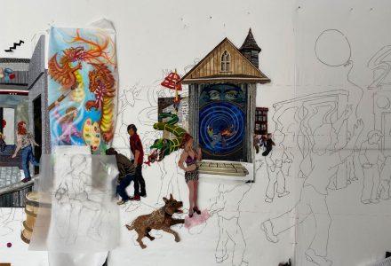 art quilt work in progress
