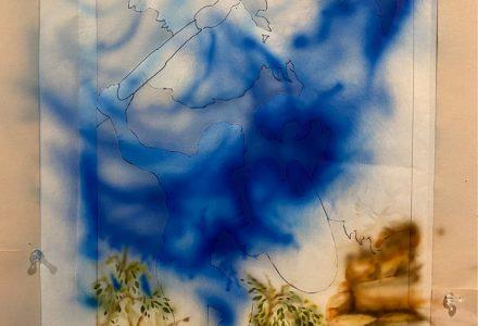 photo of air-brush painting beginning