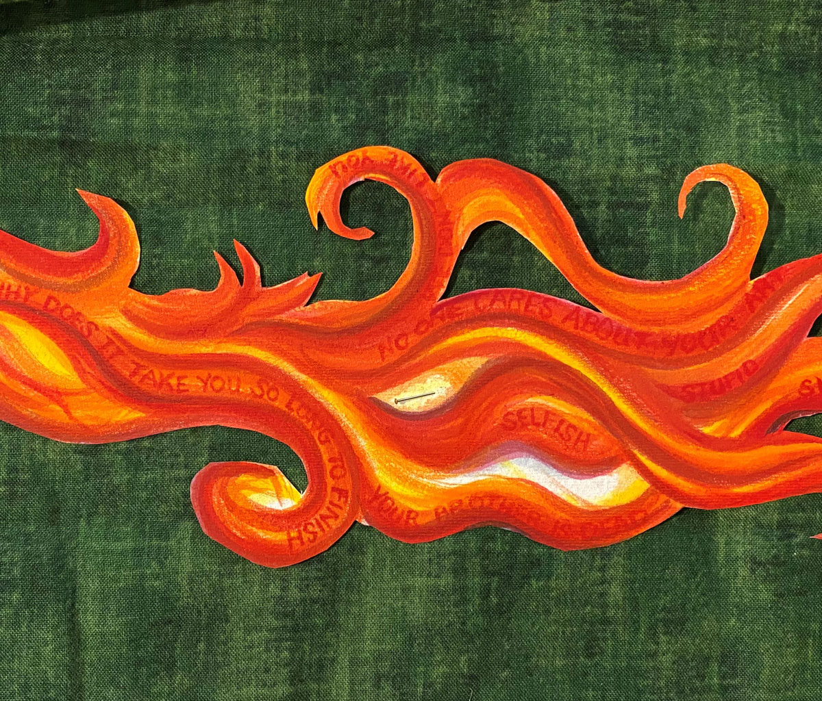 a painted flame