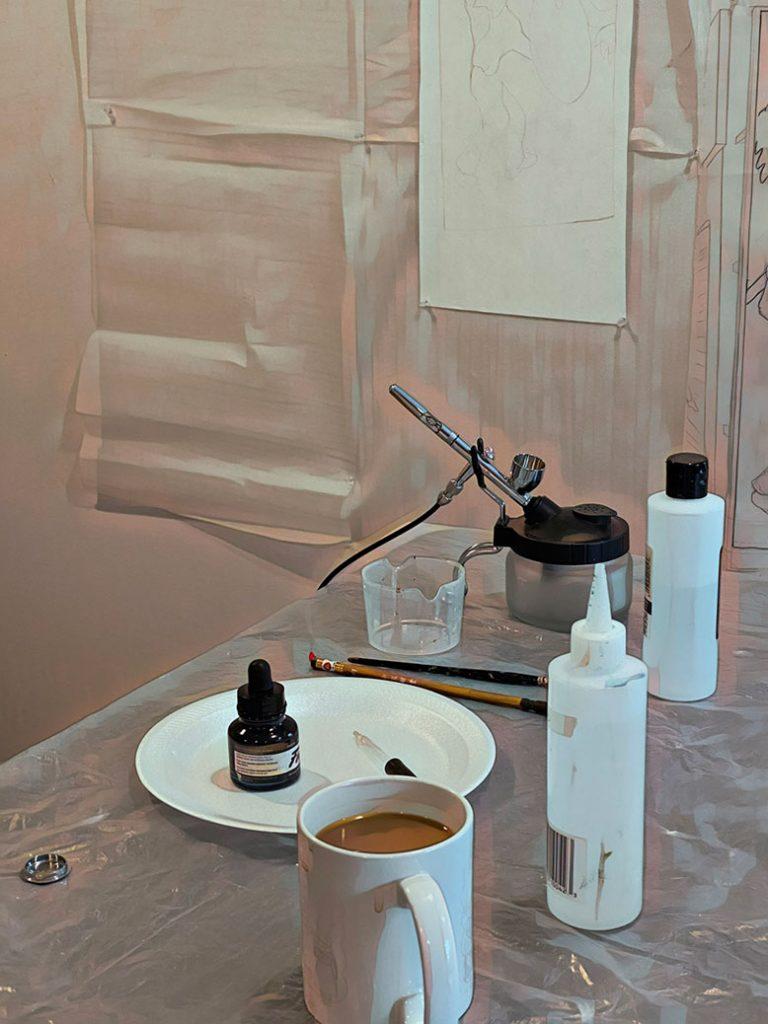 photo of air-brush supplies
