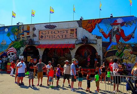 photo of ghost pirate ride