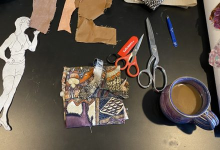 creating a character through fabric collage